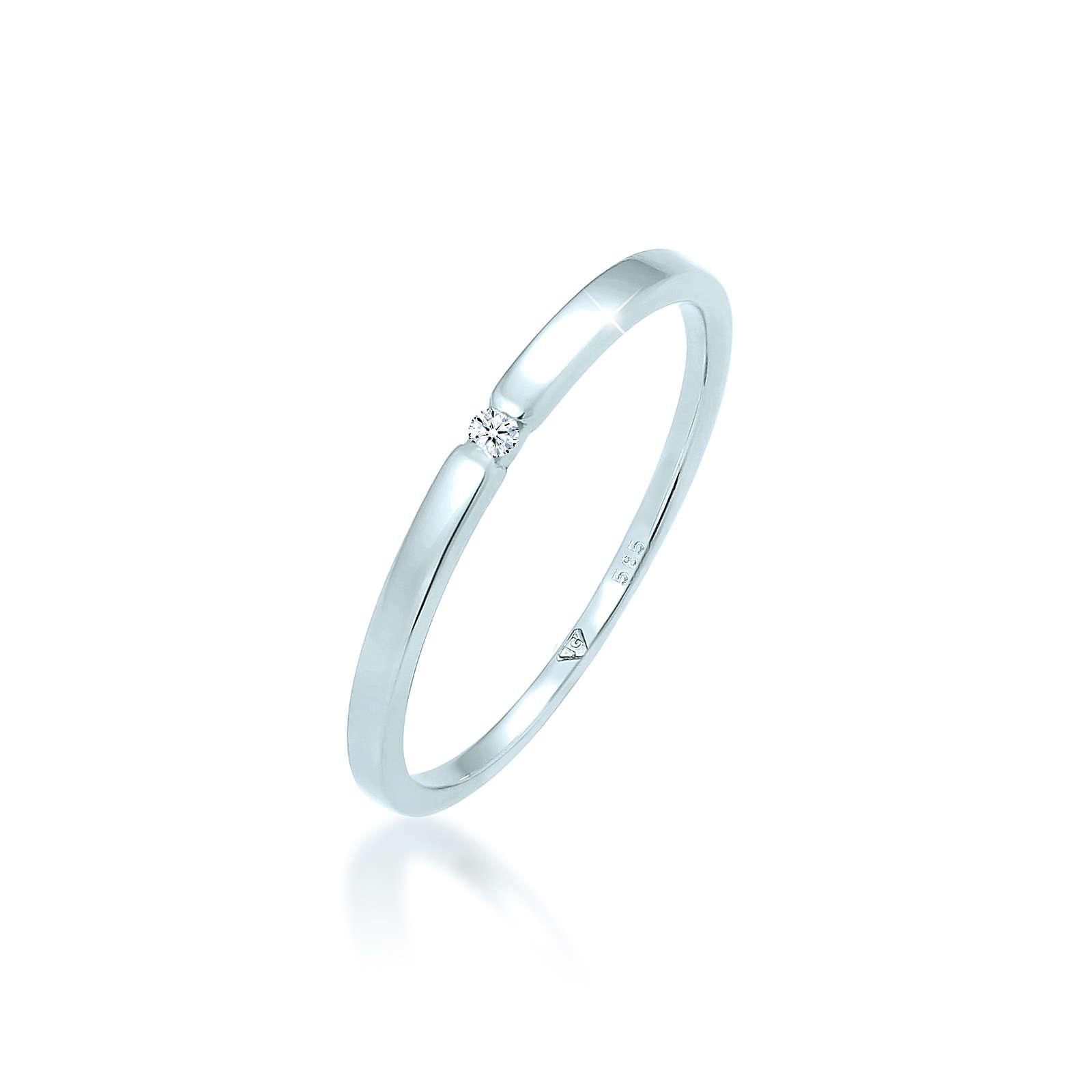 Diamore Ring weiß Damen Gr. 58