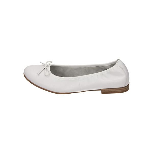 Tamaris, Faltbare Ballerinas, weiß  Gute Qualität beliebte Schuhe