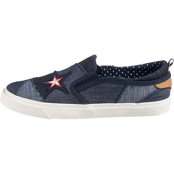 Wrangler, Sportliche Slipper, Blau denim denim denim  Gute Qualität beliebte Schuhe e3fdf4