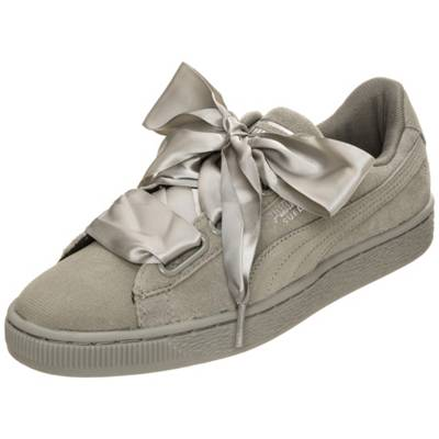 PUMA »Suede Heart Pebble« Sneaker, grau, dunkelgrau