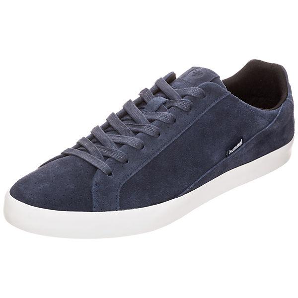 Suede Cross dunkelblau Sneakers hummel Court Low qwEx4dYan