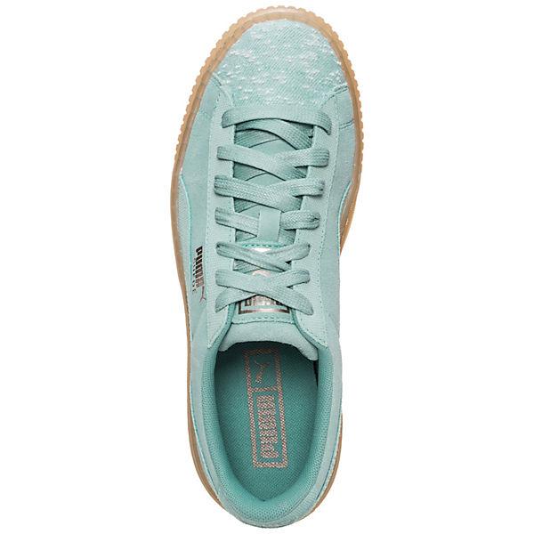PUMA, Suede Platform Pebble Sneakers Low, hellgrün Schuhe  Gute Qualität beliebte Schuhe hellgrün 4708e3