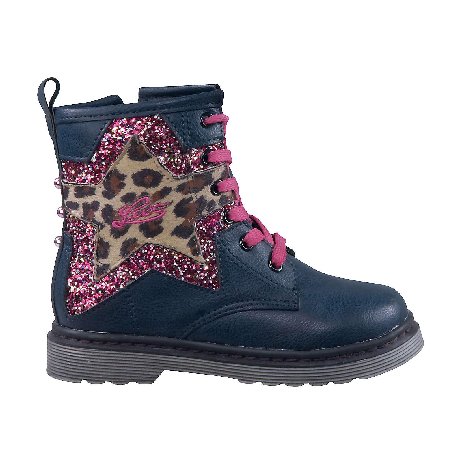 LICO Stiefel für Mädchen blau Mädchen Gr. 28