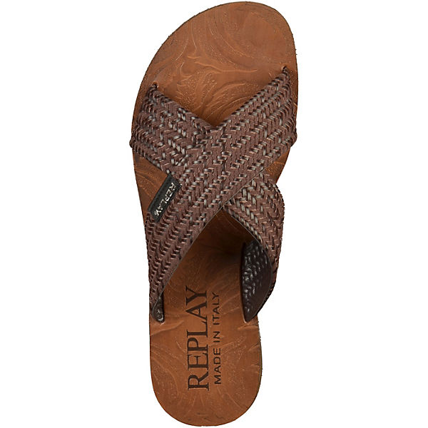 REPLAY, Pantoletten, Gute braun  Gute Pantoletten, Qualität beliebte Schuhe 5898e6