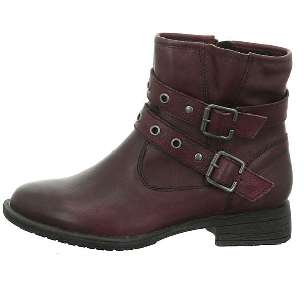 Jana Biker Boots rot  Gute Qualität beliebte Schuhe