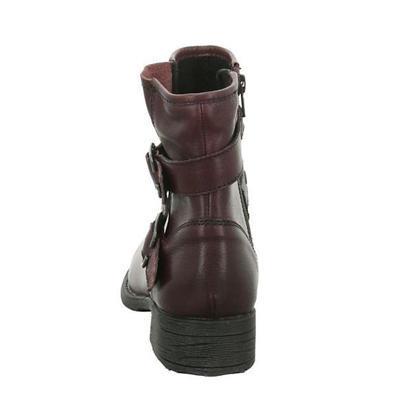 Jana Boots Boots Jana Biker Jana rot Biker rot PwRznH