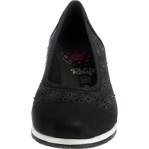 Relife schwarz Klassische Klassische Relife Ballerinas 4F7rPw4q