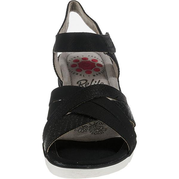 Relife, Klassische Sandalen, schwarz Schuhe  Gute Qualität beliebte Schuhe schwarz 145b12