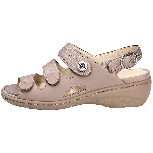WALDLÄUFER, Komfort-Pantoletten, beige  Gute Qualität beliebte Schuhe