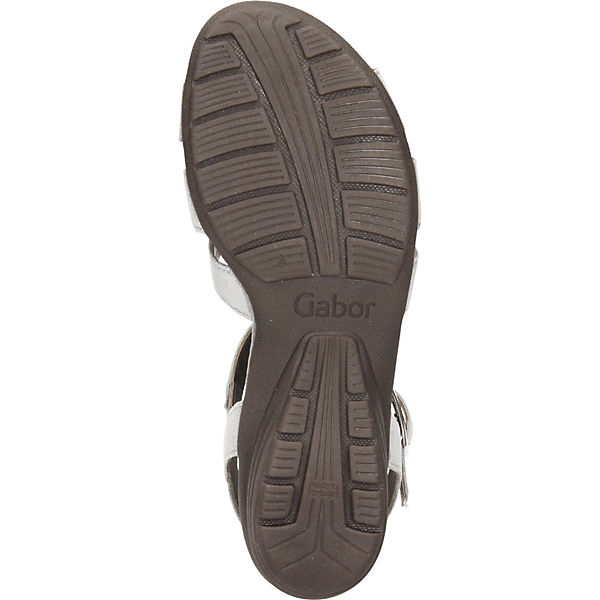 grau Sandaletten grau Gabor T T Sandaletten Gabor Steg Gabor Steg CwxHqaAAB
