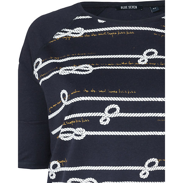 SEVEN SEVEN SEVEN dunkelblau T BLUE BLUE T BLUE Shirt dunkelblau Shirt 4qRExaga6