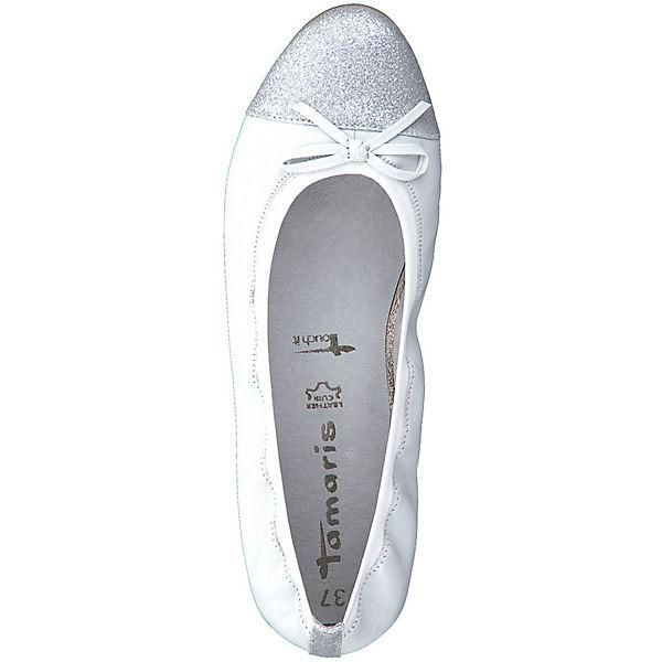 Tamaris, Klassische Qualität Ballerinas, weiß  Gute Qualität Klassische beliebte Schuhe ebc1e5