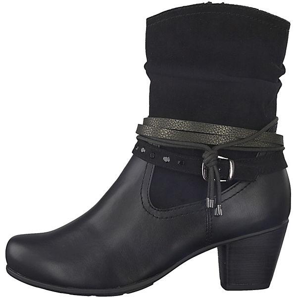 Jana,  Klassische Stiefeletten, schwarz   Jana, ee4679