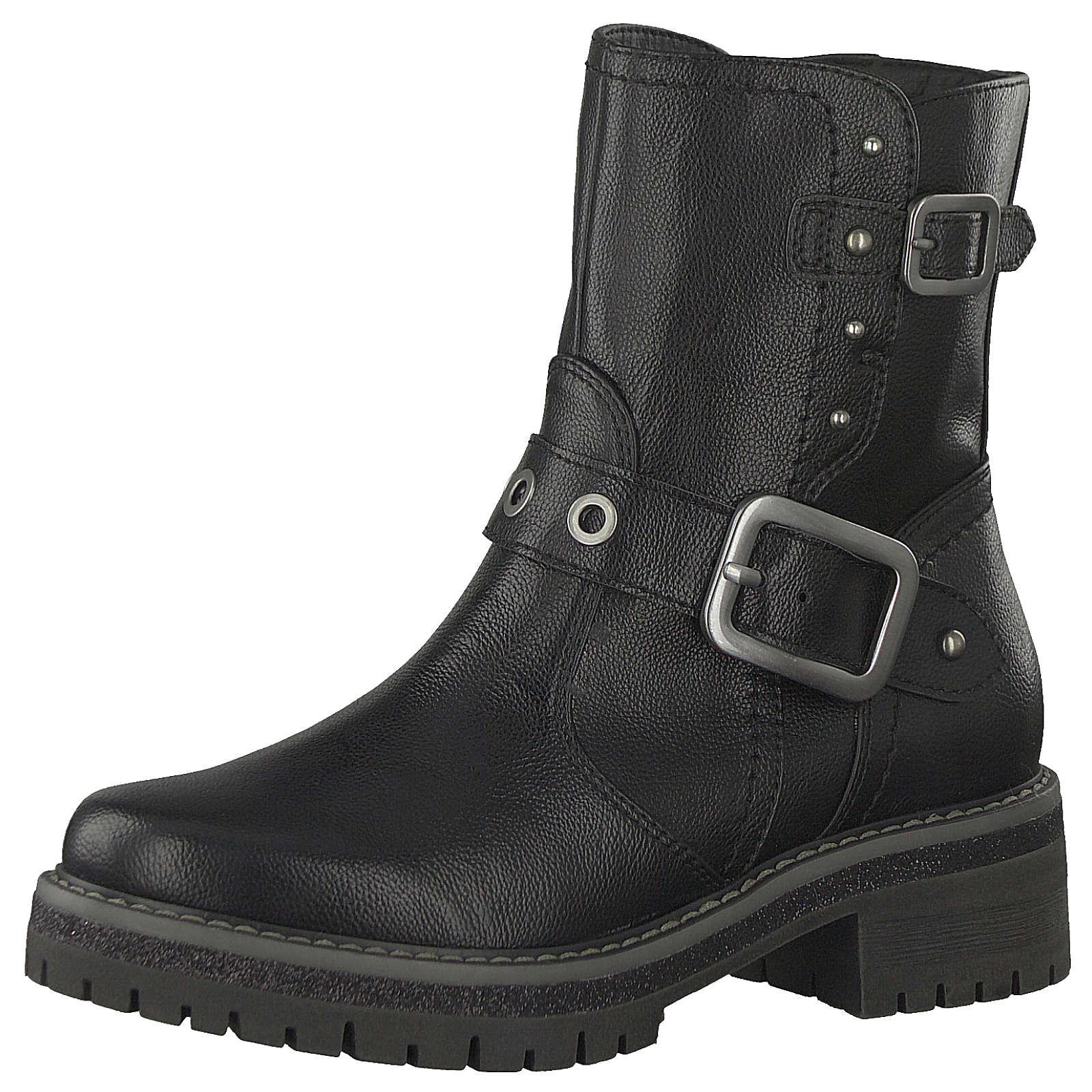 Jana Biker Boots schwarz Damen Gr. 36