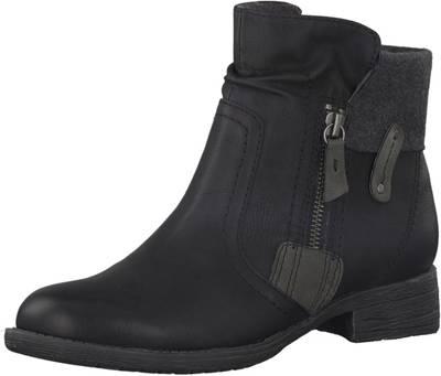Jana Damen Woms Boots Stiefelette schwarz