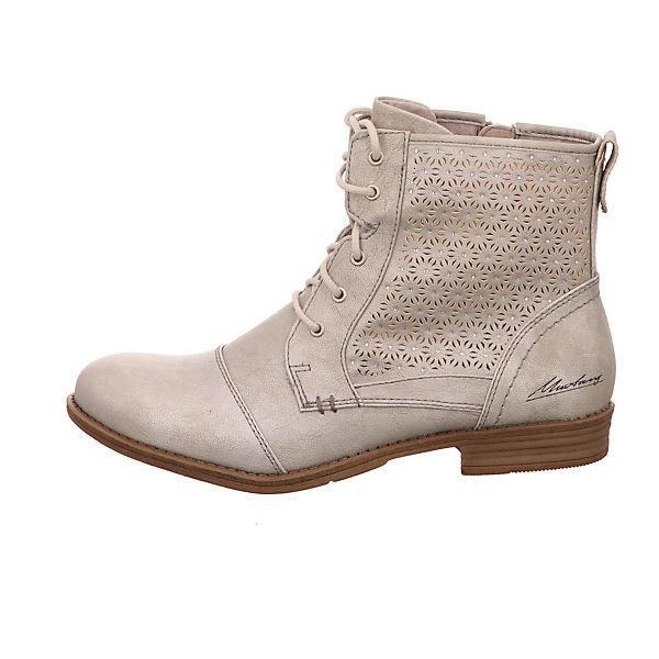 MUSTANG Schnürstiefeletten silber  Gute Qualität beliebte Schuhe