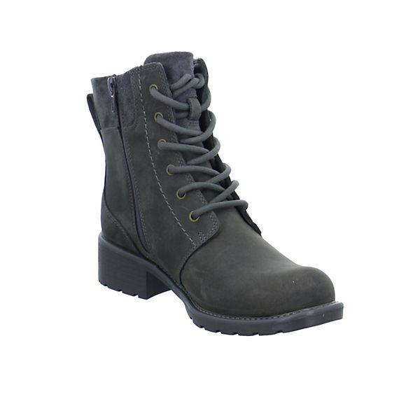 Clarks, Schnürstiefeletten, dunkelgrau  beliebte Gute Qualität beliebte  Schuhe e5da18