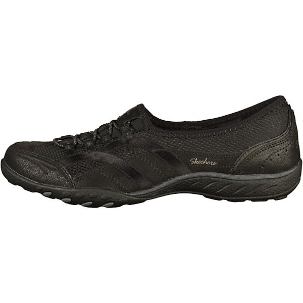 SKECHERS, Sportliche Slipper, schwarz