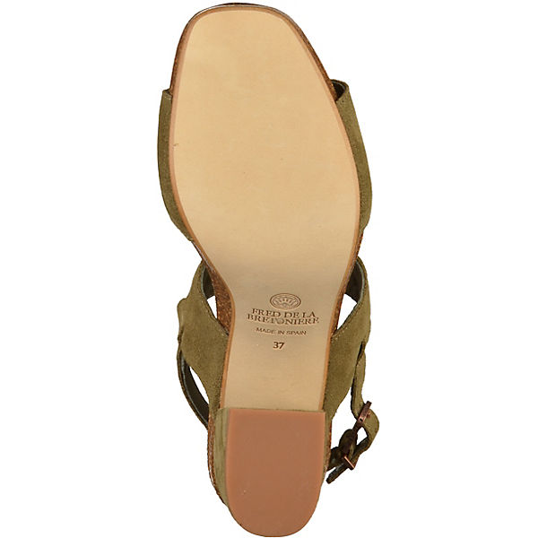 Fred de la Bretonière, Klassische  Sandaletten, khaki   Klassische e6875d