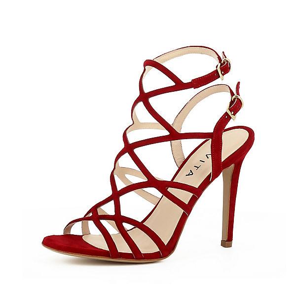 Evita rot EVA Evita Shoes Shoes Riemchensandaletten 8HwXdwWrq