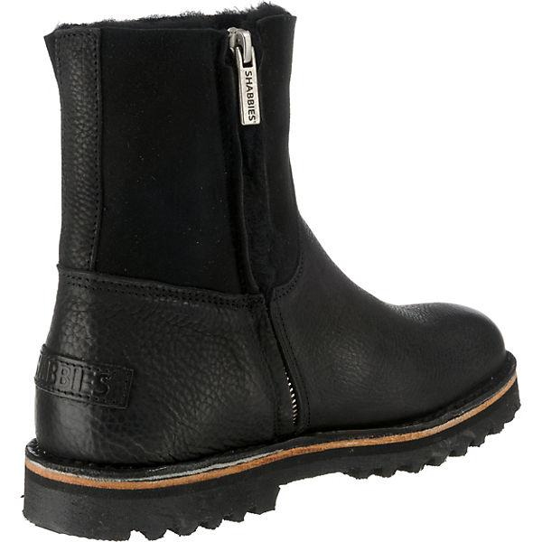 Shabbies Amsterdam, Winterstiefeletten, schwarz schwarz Winterstiefeletten,   310a65