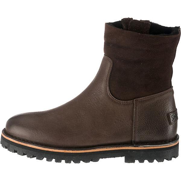 Shabbies Shabbies Shabbies Amsterdam Winterstiefeletten dunkelbraun  Gute Qualität beliebte Schuhe 476645