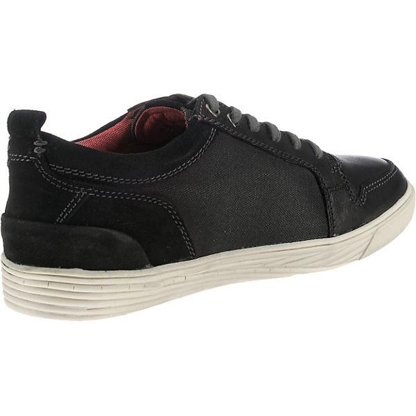 bugatti, Derby Sneakers schwarz Low, schwarz Sneakers   4f9e9f