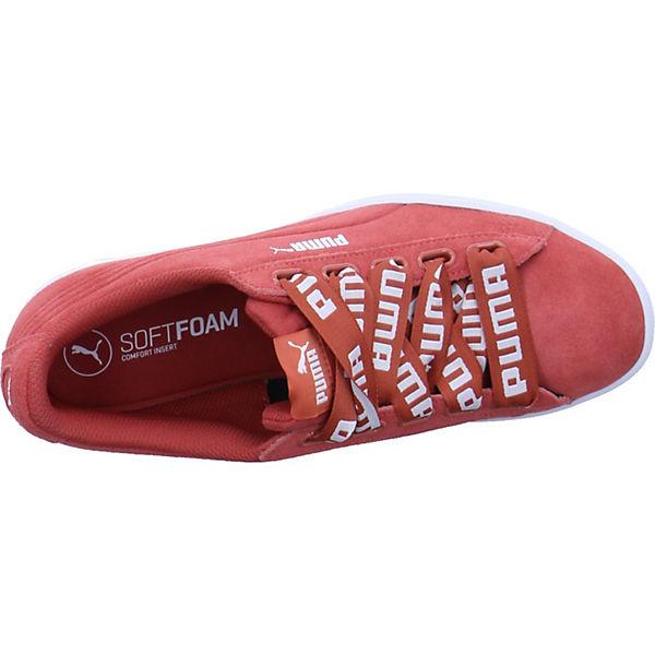 PUMA, Vikky Ribbon  Bold Sneakers Low, rot  Ribbon Gute Qualität beliebte Schuhe b1ac0e