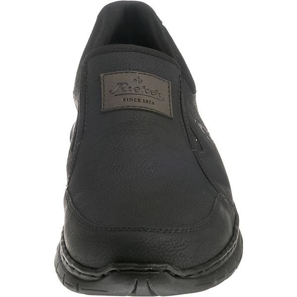 rieker, Slip-On-Sneaker, Slip-On-Sneaker, Slip-On-Sneaker, schwarz   dba9d9