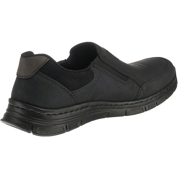rieker, Slip-On-Sneaker, schwarz     7bd364