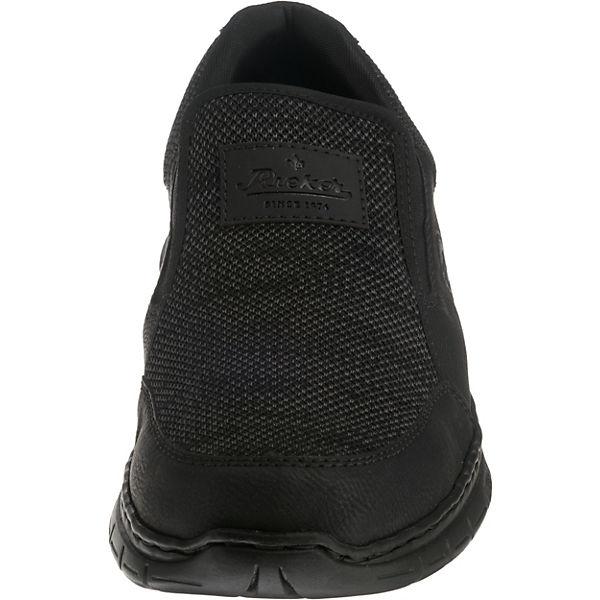 rieker, Slip-On-Sneaker, schwarz-kombi     ec749e