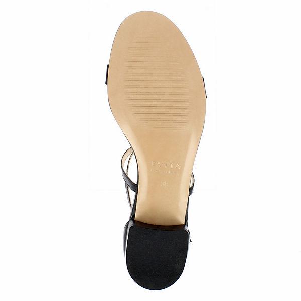 schwarz Shoes Sandalen SALVINA T Steg Evita qXd4X