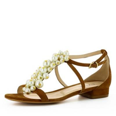 Evita »OLIMPIA« Sandale, braun, cognac