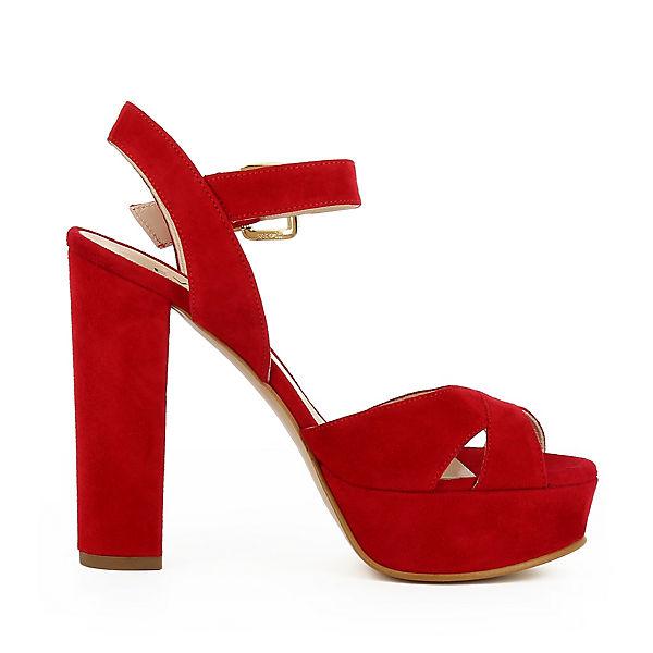 Evita Plateau LANA rot Sandaletten Shoes f1rfqwg