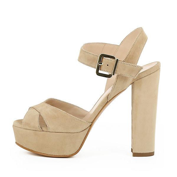 Evita  Shoes, LANA Plateau-Sandaletten, beige  Evita  3459f1