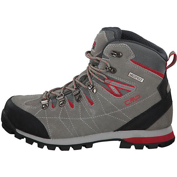 CMP, Trekkingschuhe Wanderstiefel, Arietis WP mit VIBRAM-Sohle Wanderstiefel, Trekkingschuhe grau/rot  Gute Qualität beliebte Schuhe fce08d
