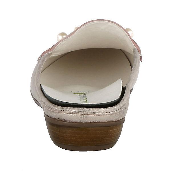 WALDLÄUFER,  Pantoletten, gold  WALDLÄUFER, Gute Qualität beliebte Schuhe 99491a