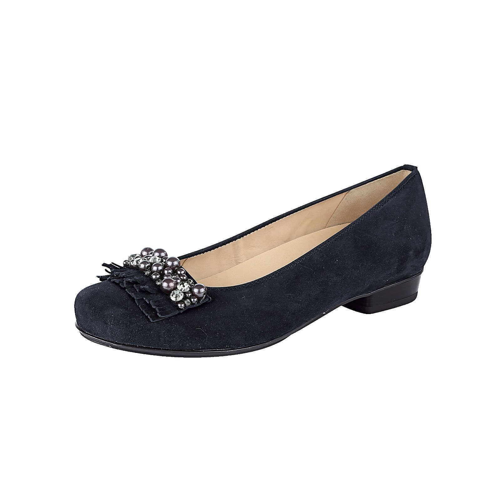 ara Klassische Ballerinas dunkelblau Damen Gr. 41