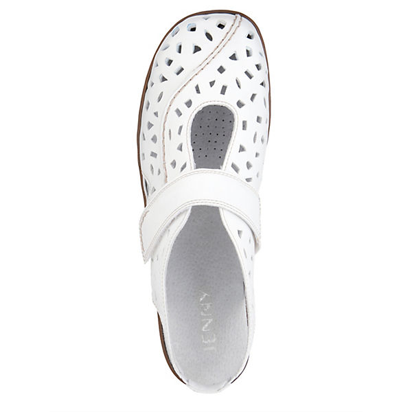 JENNY Offene Halbschuhe weiß  Gute Qualität beliebte Schuhe