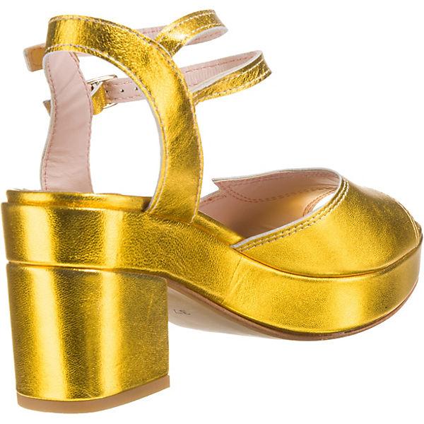 Miss L-FIRE, Evangeline Plateau-Pumps, beliebte gold  Gute Qualität beliebte Plateau-Pumps, Schuhe b05643