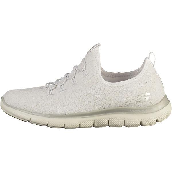 SKECHERS, Sneakers Low, weiß-kombi