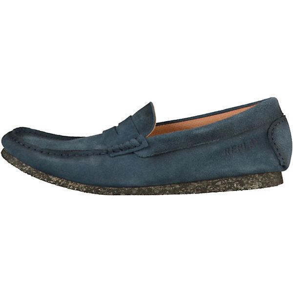 REPLAY, Klassische Slipper, blau