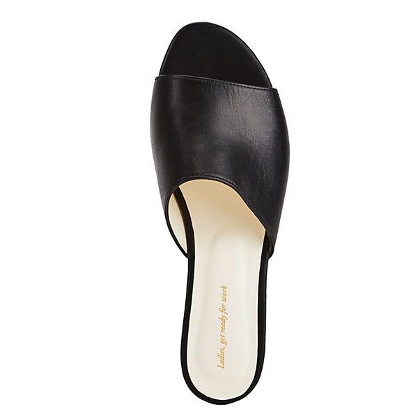 NINE  TO FIVE, Pantoletten #maia, schwarz  NINE Gute Qualität beliebte Schuhe 0d0276