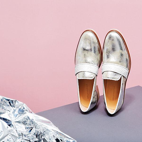 NINE silber TO FIVE, Loafers #lapa, silber NINE   4558aa