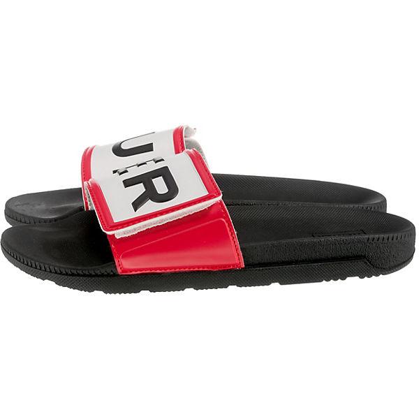 HUNTER, Womens Gute Original Adjustable Logo Slide Pantoletten, schwarz  Gute Womens Qualität beliebte Schuhe 8d7080