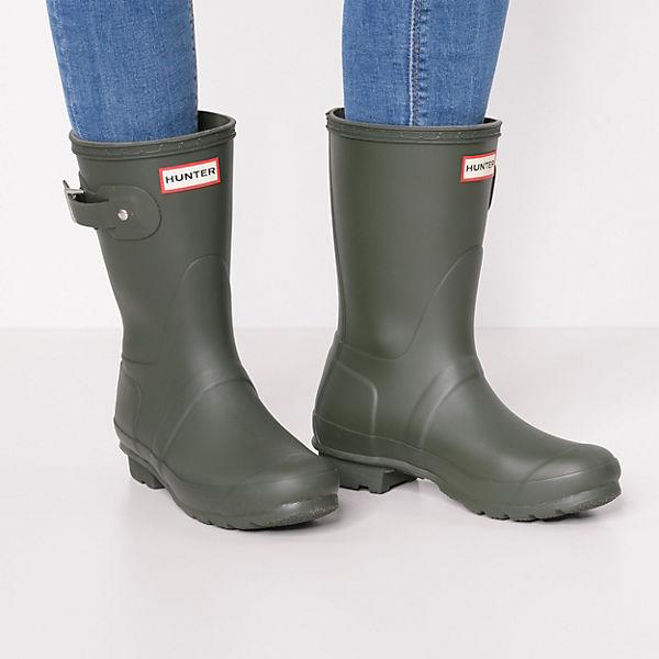 HUNTER, WOMEN ORIGINAL SHORT Gummistiefel, dunkelgrün Schuhe  Gute Qualität beliebte Schuhe dunkelgrün f61f1d
