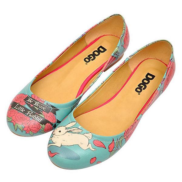 Dogo Shoes, Be Brave,  Little Rabbit Klassische Ballerinas, mehrfarbig  Brave,  ba4a64