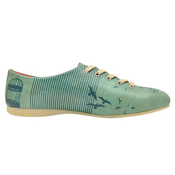 Schnürschuhe a Free as Shoes Dogo Bird mehrfarbig Oxford FqYPwSSZ