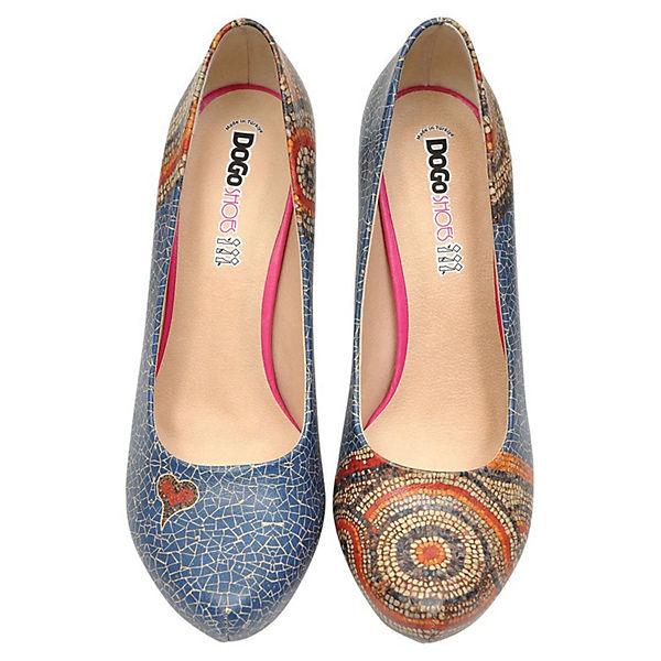 Klassische mehrfarbig Dogo Shoes Mosaics Pumps Blue COpBnq