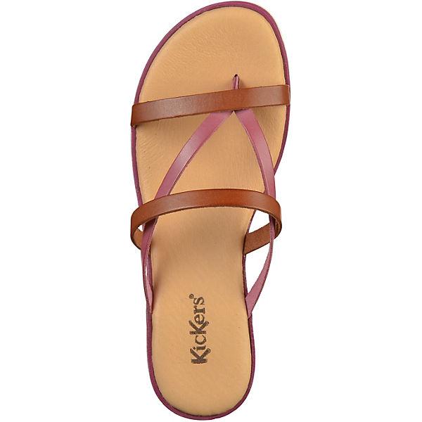 KicKers, Pantoletten, beliebte braun  Gute Qualität beliebte Pantoletten, Schuhe 1da48e